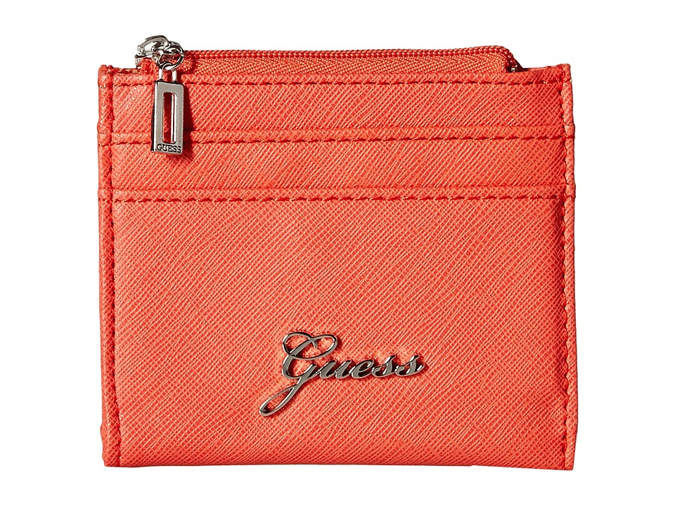 GUESS - Sonja SLG Small Zip Organizer/Wallet (Coral) Coin Purse