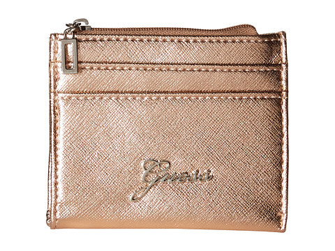 GUESS - Sonja SLG Small Zip Organizer/Wallet (Rose Gold) Coin Purse