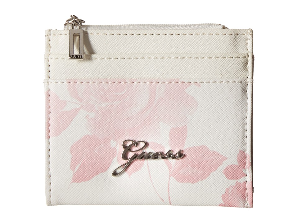 GUESS - Sonja SLG Small Zip Organizer/Wallet (Pink Multi) Coin Purse