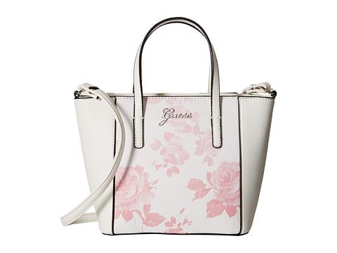 GUESS - Sonja Mini Carryall (Pink Multi) Cross Body Handbags