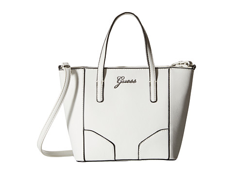 GUESS - Sonja Mini Carryall (White) Cross Body Handbags