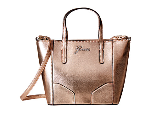 GUESS - Sonja Mini Carryall (Rose Gold) Cross Body Handbags