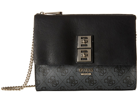 GUESS - Pierce Petite Crossbody Top Zip (Black) Top-Zip Handbags