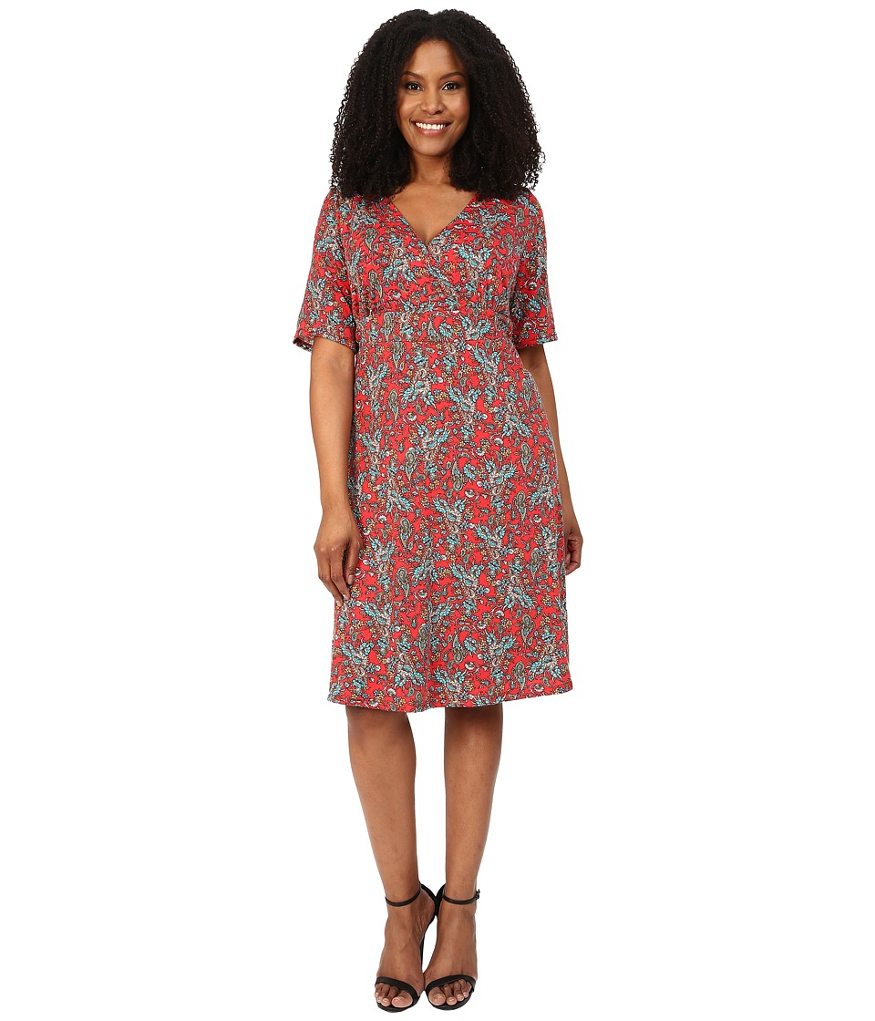 Poppy & Bloom - Plus Size Work the Angle Dress (Red) Women's Dress
