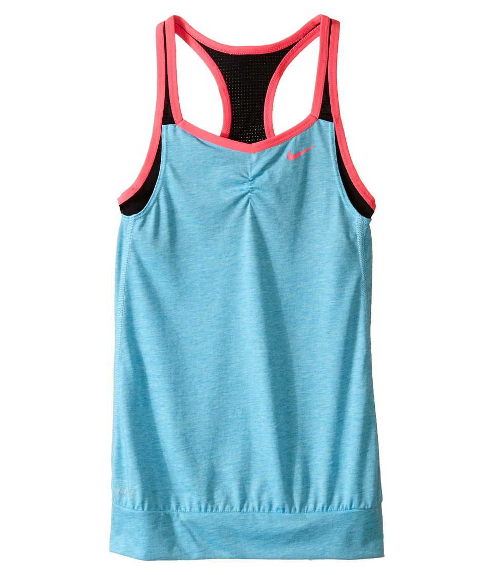 Nike Kids - Dri-FIT Cool 2-1 Cami (Little Kids/Big Kids) (Omega Blue/Black/Black/Hyper Pink) Girl's Clothing
