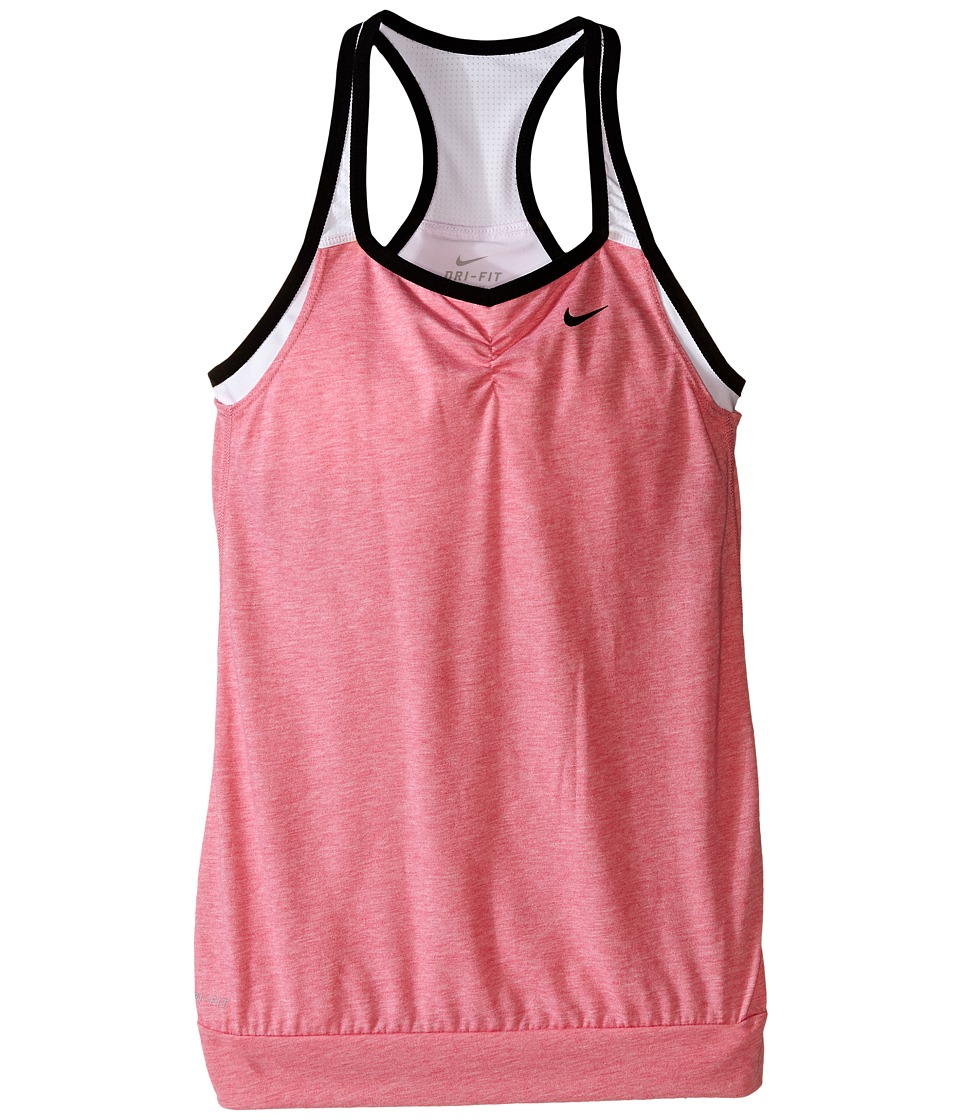 Nike Kids - Dri-FIT Cool 2-1 Cami (Little Kids/Big Kids) (Vivid Pink/White/White/Black) Girl's Clothing