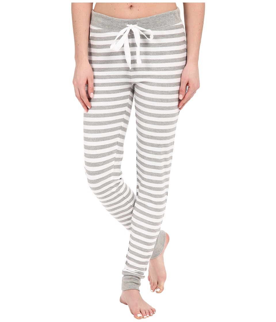 LAUREN Ralph Lauren - Skinny Lounge Pants (Stripe Grey Heather/White) Women's Pajama