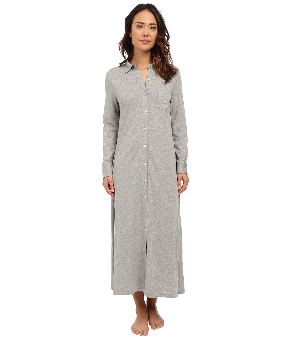 LAUREN Ralph Lauren - Maxi Sleepshirt (Grey Heather) Women's Pajama