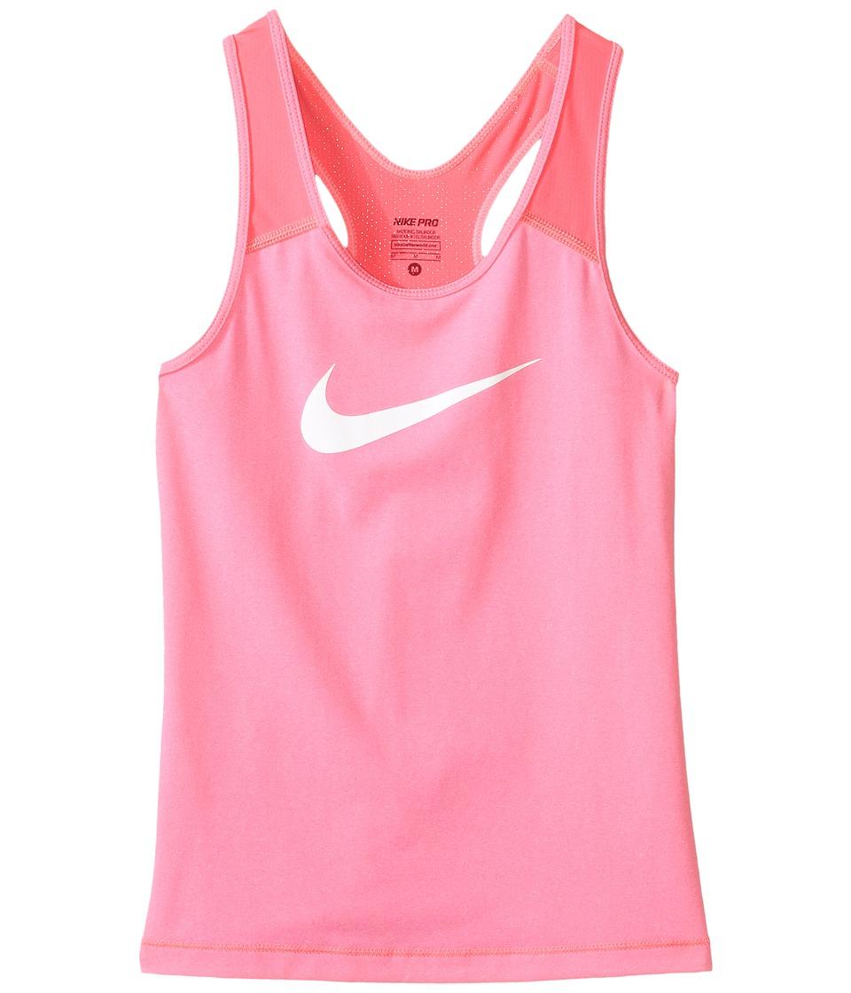 Nike Kids - Pro Cool Training Tank Top (Little Kids/Big Kids) (Hyper Pink/Heather/White) Girl's Sleeveless