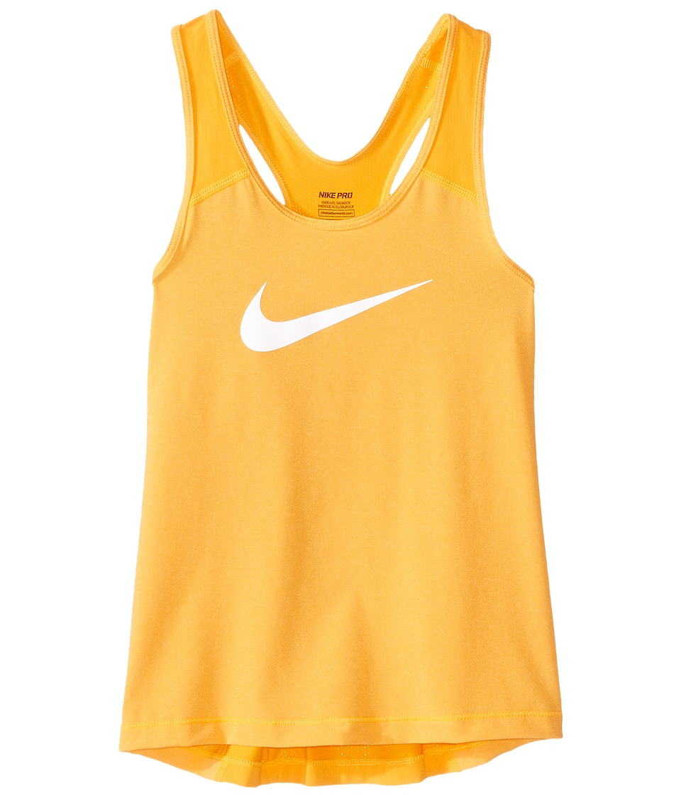 Nike Kids - Pro Cool Training Tank Top (Little Kids/Big Kids) (Vivid Orange/Heather/White) Girl's Sleeveless