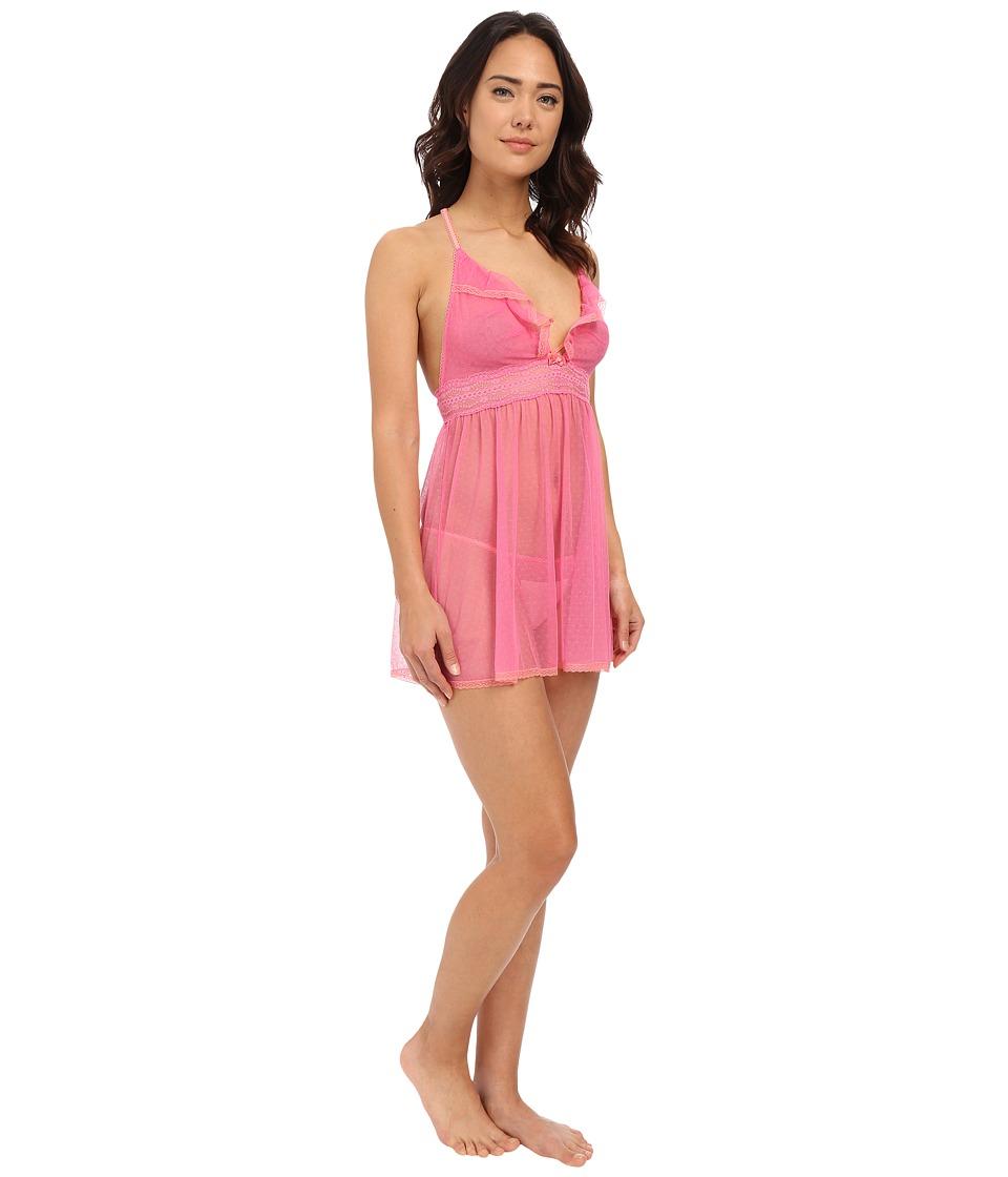 Betsey Johnson - Eyelet Mesh Babydoll (Pink Flirt) Women's Pajama