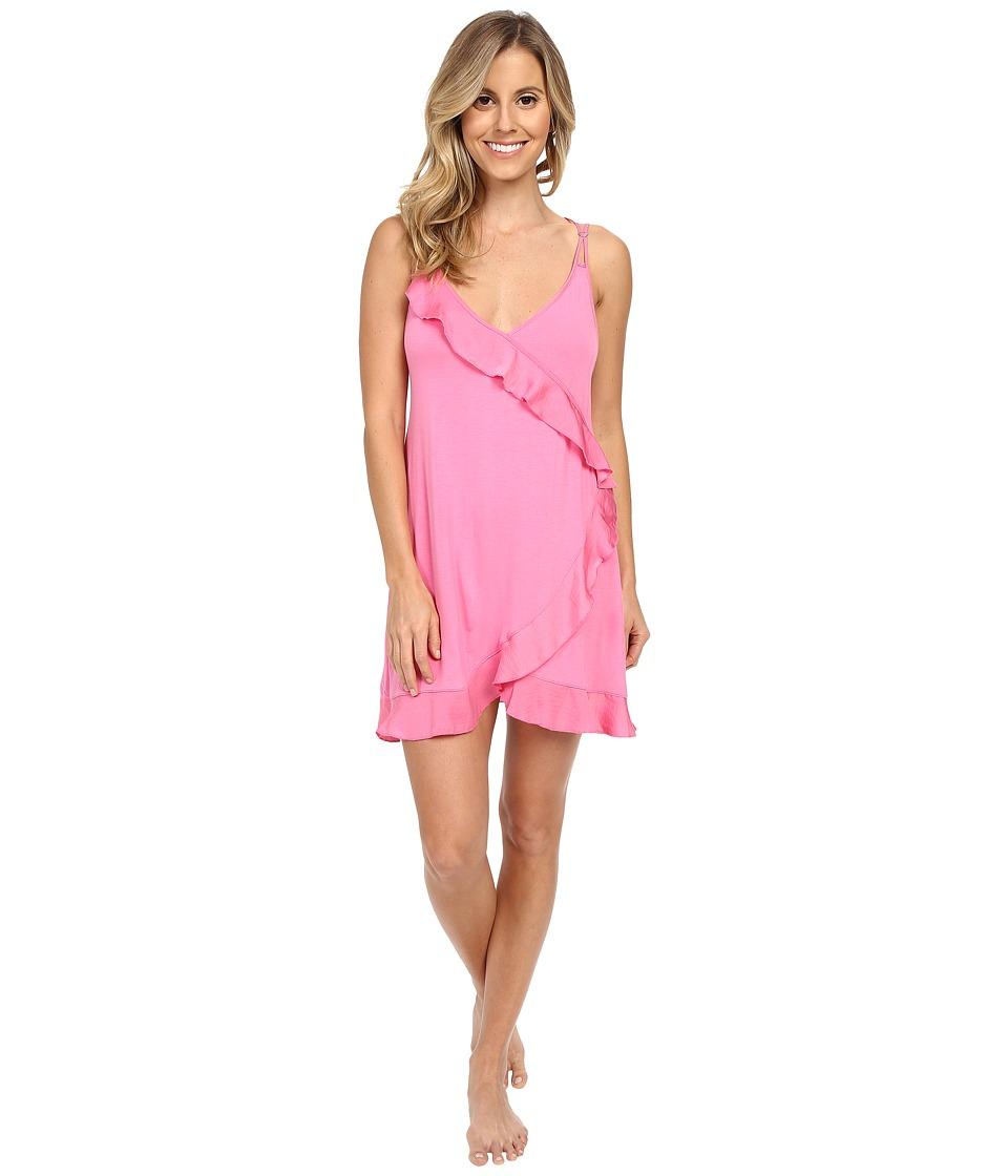 Betsey Johnson - Neps Yarn Rayon Knit Slip (Pink Flirt) Women's Pajama