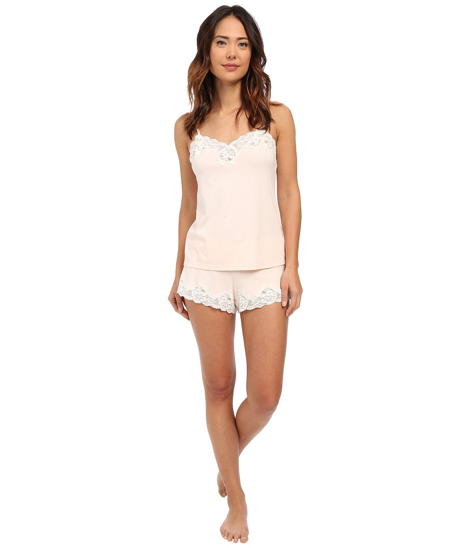 LAUREN Ralph Lauren - Knit Cami Top Pajama Set (Pink) Women's Pajama Sets