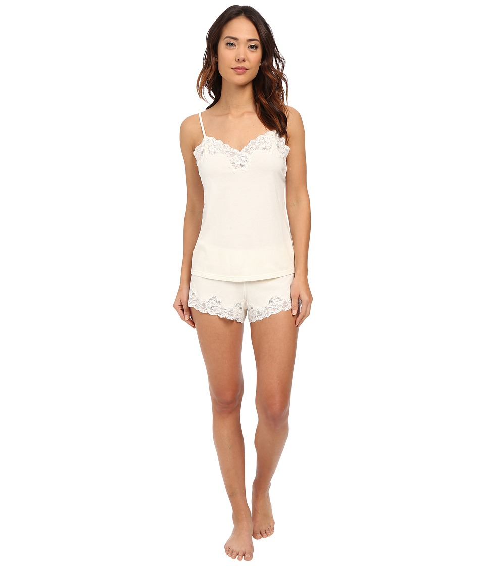 LAUREN Ralph Lauren - Knit Cami Top Pajama Set (Ivory) Women's Pajama Sets