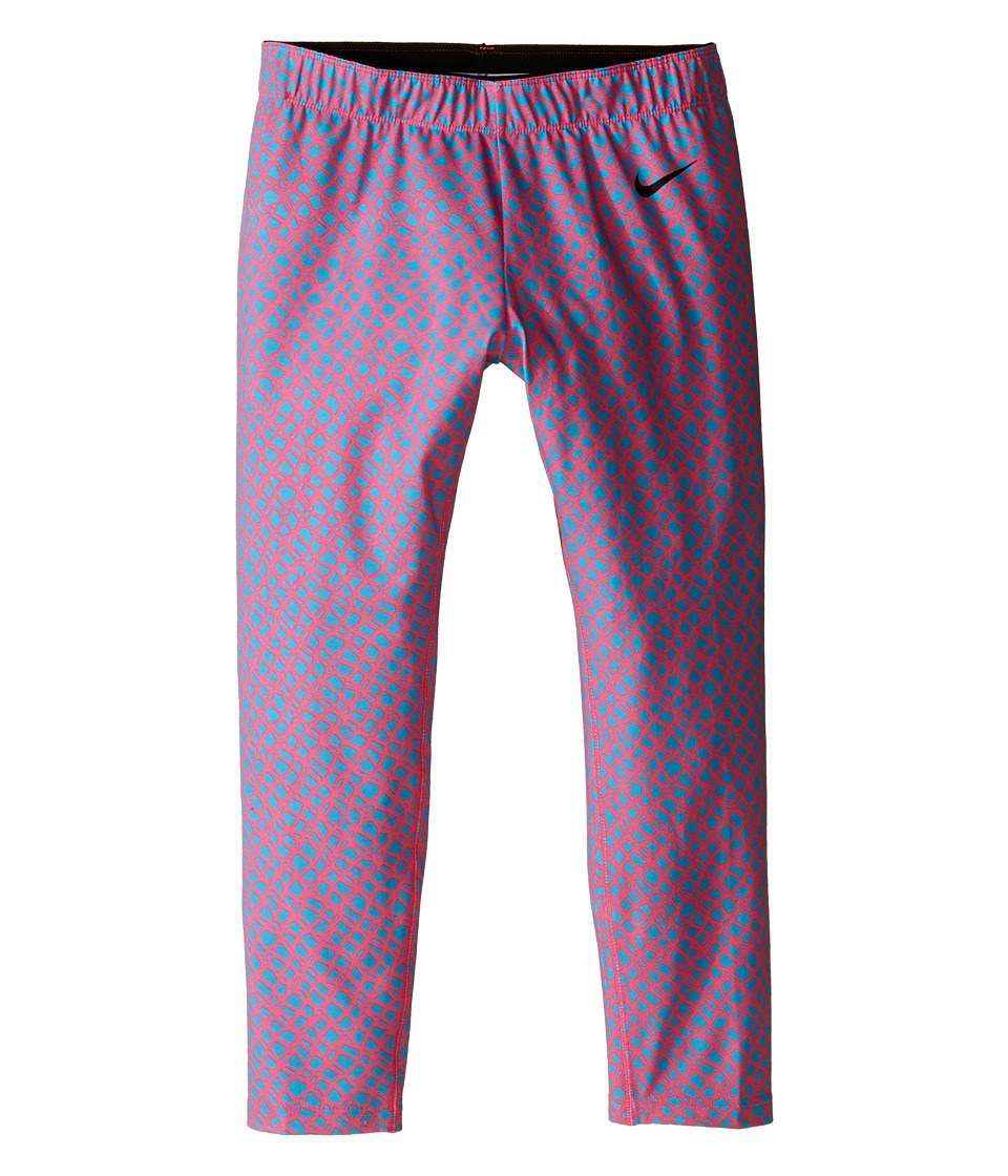 Nike Kids - Club Leggings - Crop AOP (Little Kids/Big Kids) (Digital Pink/Omega Blue/Black) Girl's Casual Pants