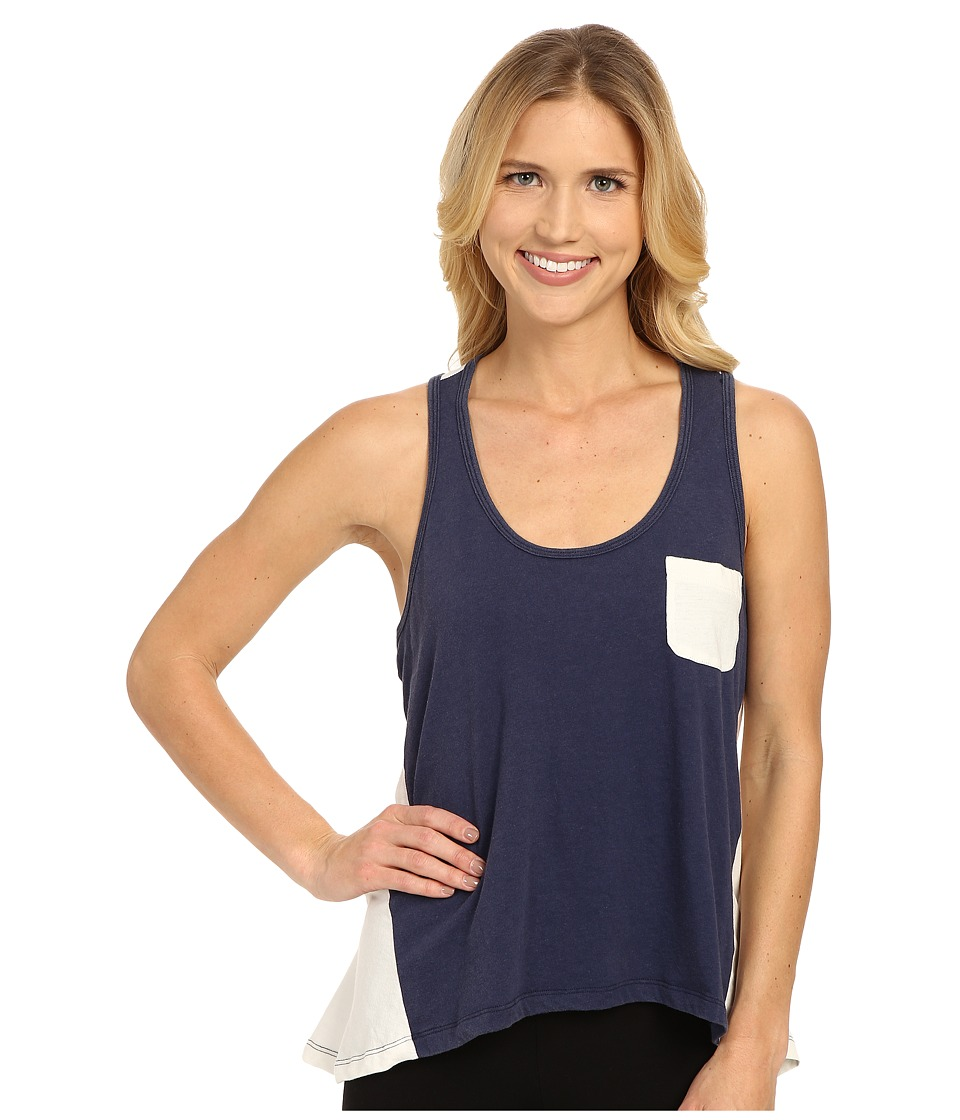 Jane & Bleecker - Vintage Jersey High-Low Stripe Back Tank Top 3501109 (Navy) Women's Pajama