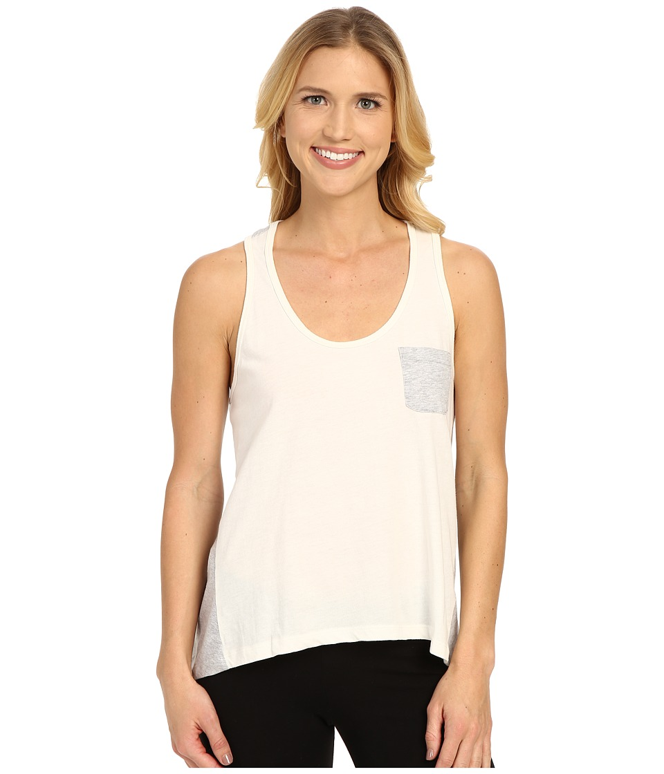 Jane & Bleecker - Vintage Jersey High-Low Stripe Back Tank Top 3501109 (Ivory) Women's Pajama