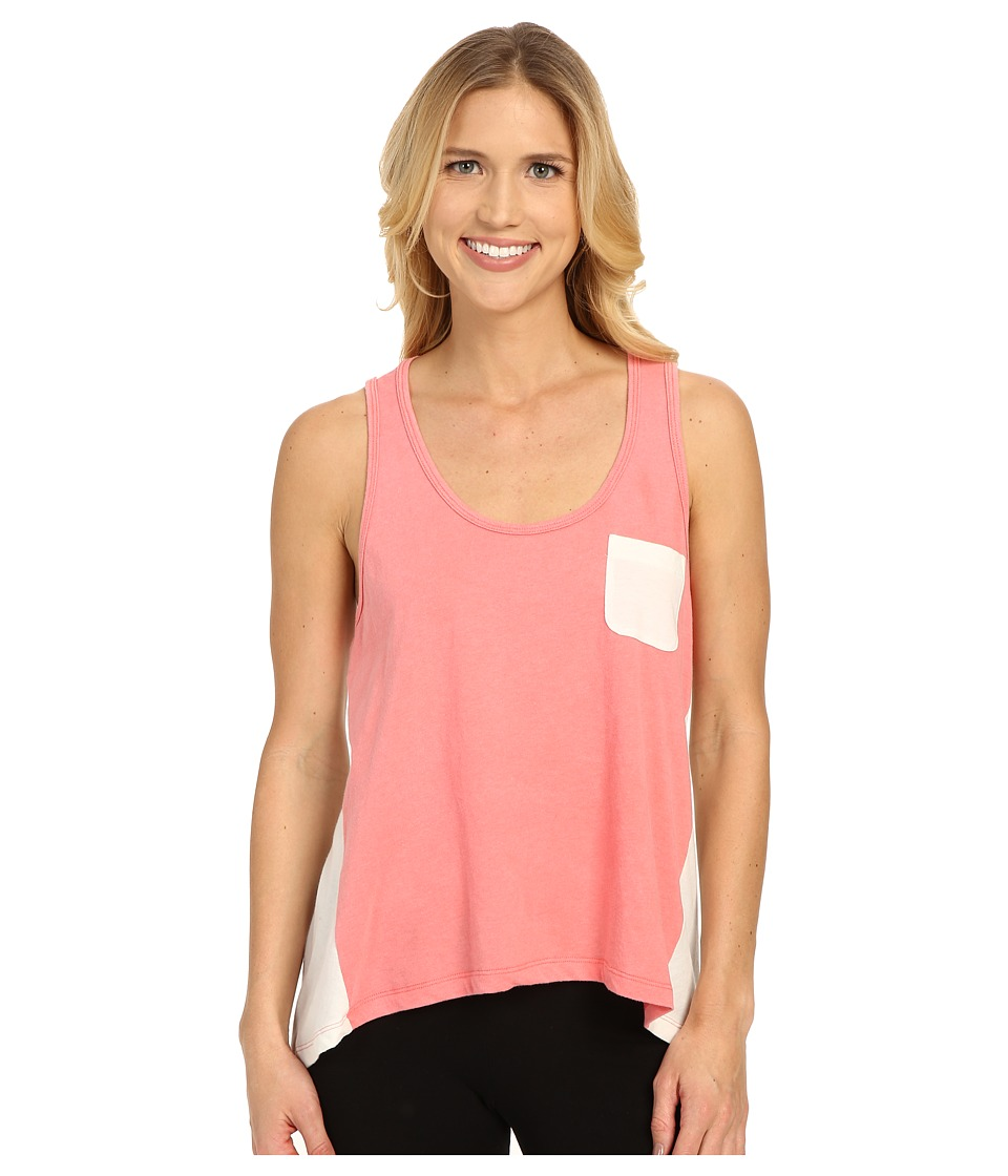 Jane & Bleecker - Vintage Jersey High-Low Stripe Back Tank Top 3501109 (Coral) Women's Pajama plus size,  plus size fashion plus size appare