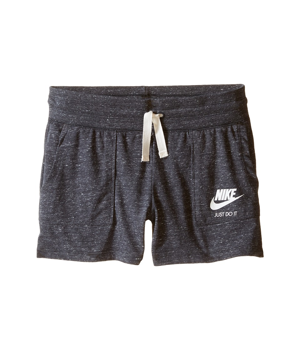 Nike Kids - Gym Vintage Shorts (Little Kids/Big Kids) (Anthracite/Sail) Girl's Shorts