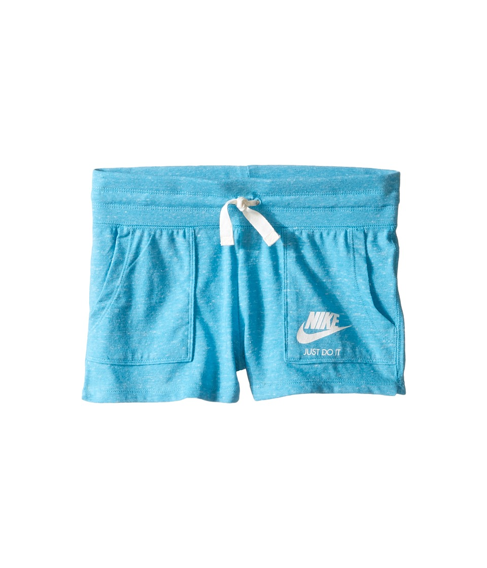 Nike Kids - Gym Vintage Shorts (Little Kids/Big Kids) (Omega Blue/Sail) Girl's Shorts