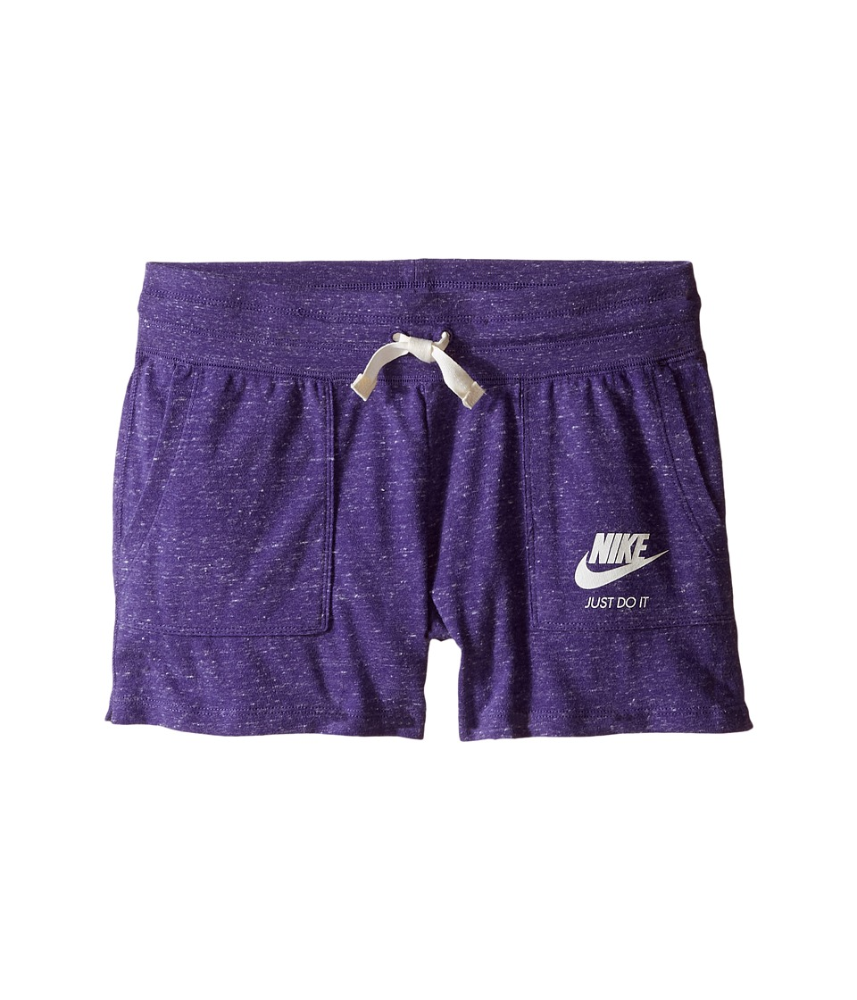 Nike Kids - Gym Vintage Shorts (Little Kids/Big Kids) (Court Purple/Sail) Girl's Shorts