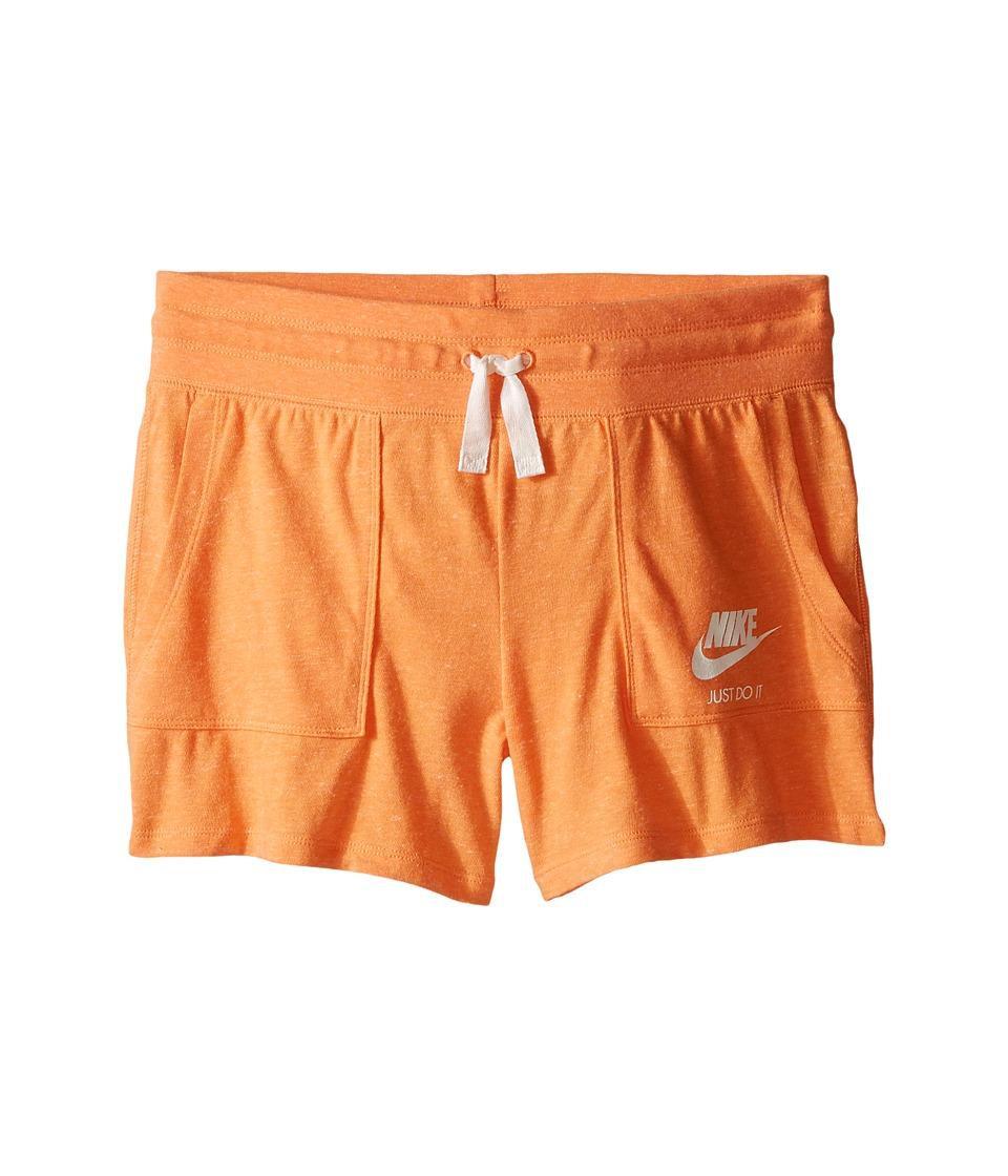 Nike Kids - Gym Vintage Shorts (Little Kids/Big Kids) (Vivid Orange/Sail) Girl's Shorts