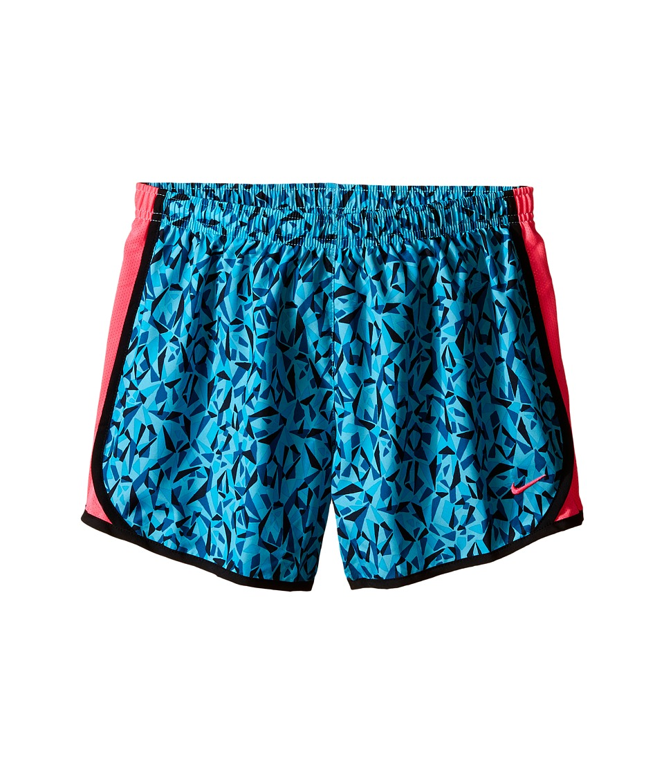 Nike Kids - Tempo Printed Running Short (Little Kids/Big Kids) (Omega Blue/Green Abyss/Black/Hyper Pink) Girl's Shorts