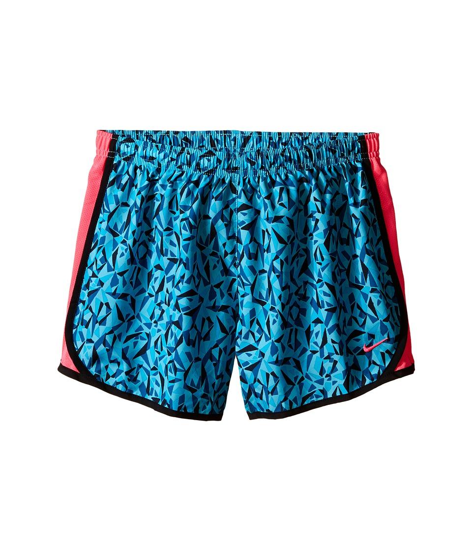 Nike Kids - Tempo Printed Running Short (Little Kids/Big Kids) (Omega Blue/Green Abyss/Black/Hyper Pink) Girl's Shorts