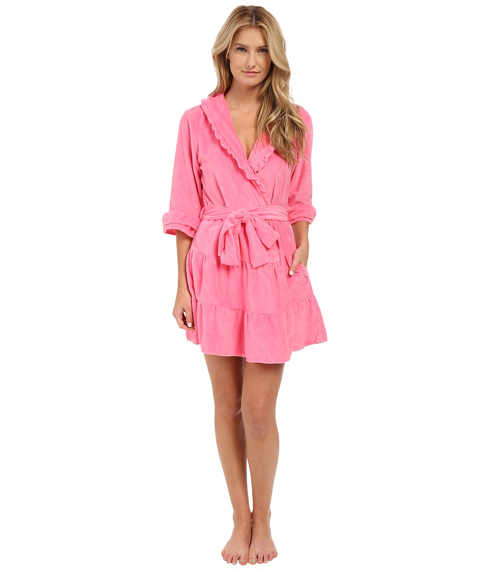 Betsey Johnson - Vintage Terry Robe (Pink Flirt) Women's Robe