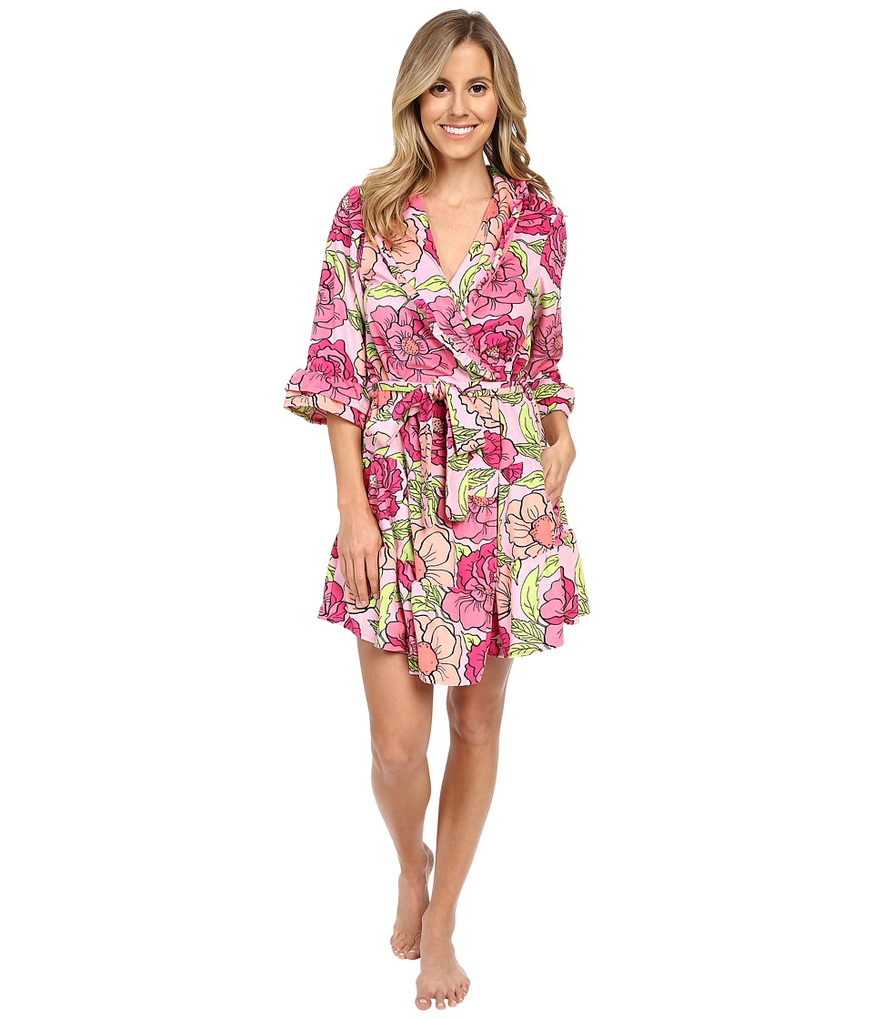 Betsey Johnson - Vintage Terry Robe (Boho Poppy Pink) Women's Robe