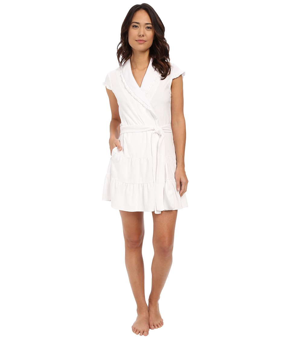Betsey Johnson - Baby Terry Satin Lined Robe (Sonic White The Bride) Women's Robe
