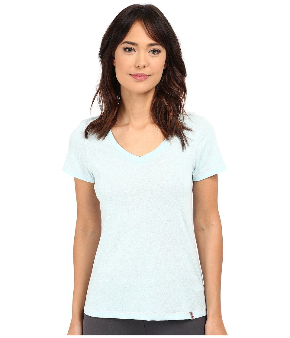 Jane & Bleecker - Drapey Jersey V-Neck Tee 3561100 (Blue) Women