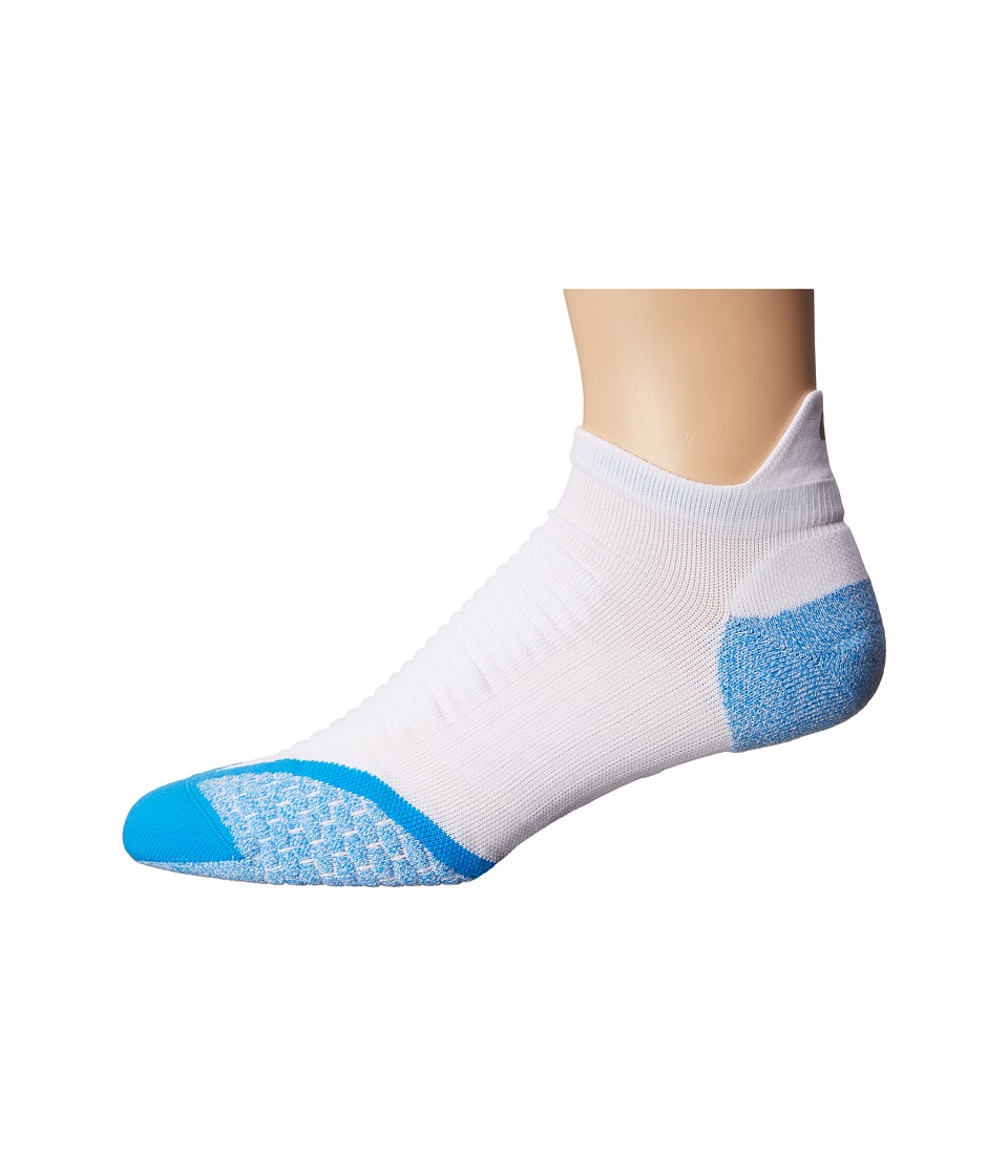 Nike Golf - Elite Cushion No Show Tab (White/Photo Blue/Refsil) Men's No Show Socks Shoes