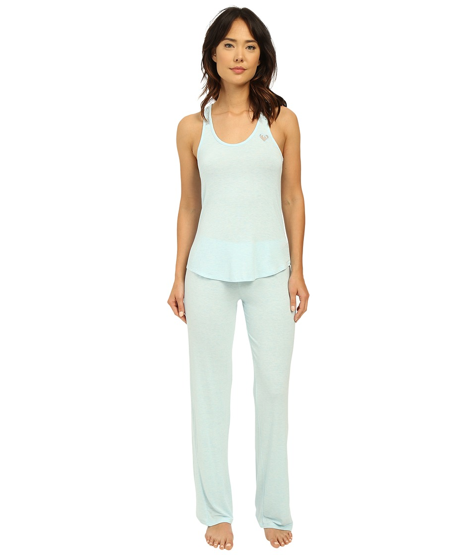 Betsey Johnson - Lace Racerback Pajama Set (Heather Blue) Women