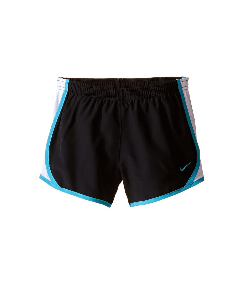Nike Kids - Tempo Short (Little Kids/Big Kids) (Black/White/Omega Blue/Omega Blue) Girl's Shorts