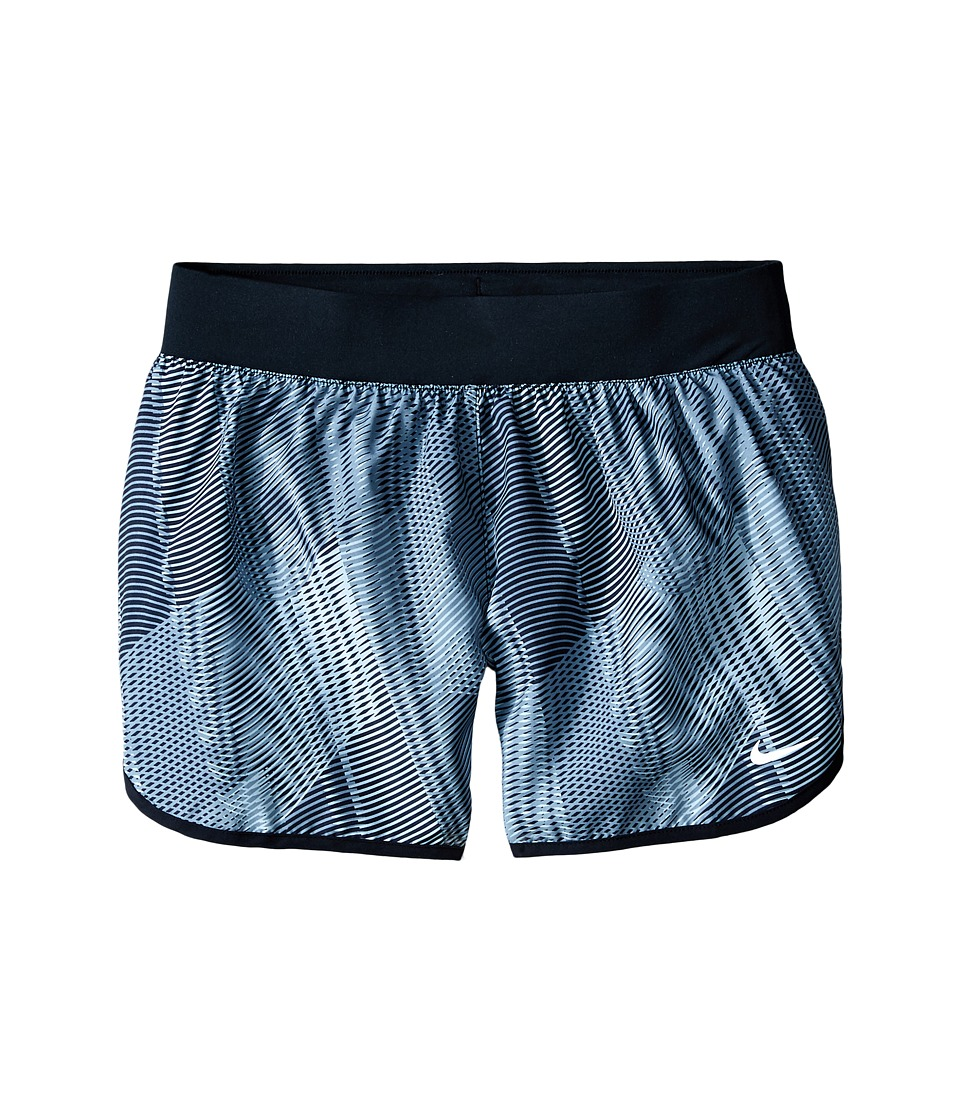 Nike Kids - Tempo Rival Printed Running Short (Little Kids/Big Kids) (Dark Grey/Black/Hyper Pink) Girl's Shorts