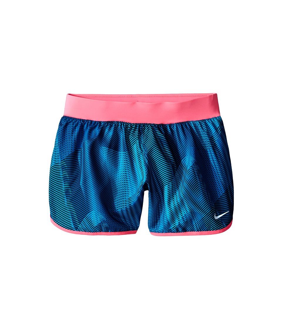 Nike Kids - Tempo Rival Printed Running Short (Little Kids/Big Kids) (Blue Lagoon/Hyper Pink/Black) Girl's Shorts