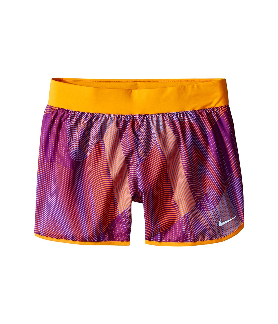 Nike Kids - Tempo Rival Printed Running Short (Little Kids/Big Kids) (Cosmic Purple/Vivid Orange/Cosmic Purple) Girl's Shorts