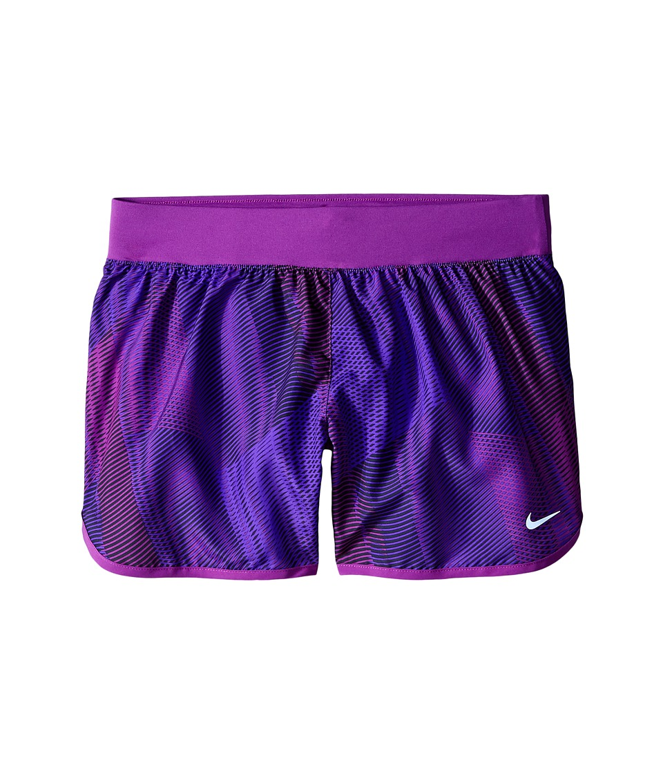 Nike Kids - Tempo Rival Printed Running Short (Little Kids/Big Kids) (Hyper Grape/Cosmic Purple/Vivid Orange) Girl's Shorts