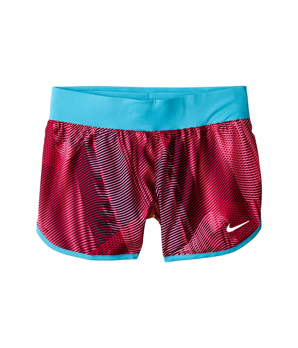 Nike Kids - Tempo Rival Printed Running Short (Little Kids/Big Kids) (Sport Fuchsia/Omega Blue/Black) Girl's Shorts