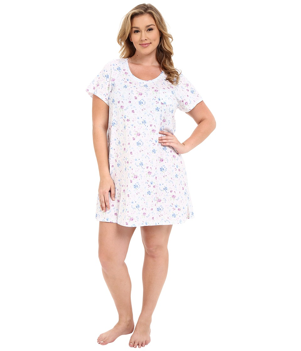 Carole Hochman - Plus Size Novelty Print Sleepshirt (Wildflower) Women's Pajama