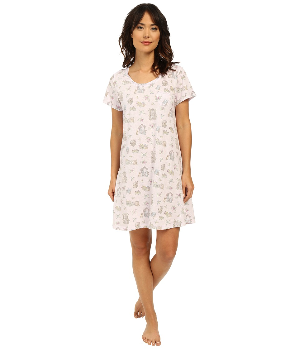 Carole Hochman - Novelty Print Sleepshirt (Picket Fence) Women's Pajama