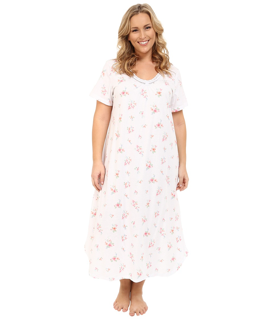 Carole Hochman - Plus Size Long Sleepshirt (Branches) Women