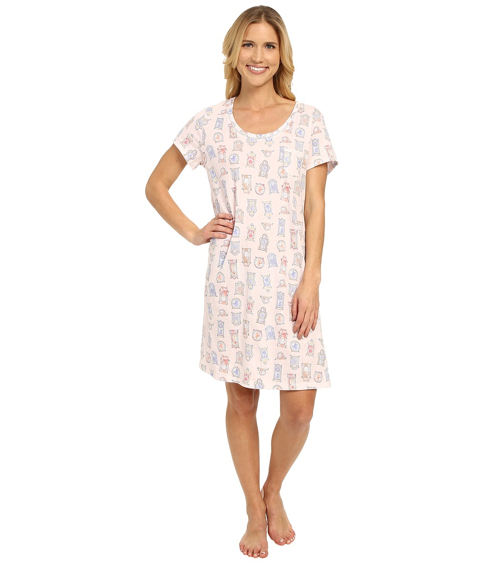 Carole Hochman - Cotton Novelty Printed Sleepshirt (Clocks) Women's Pajama