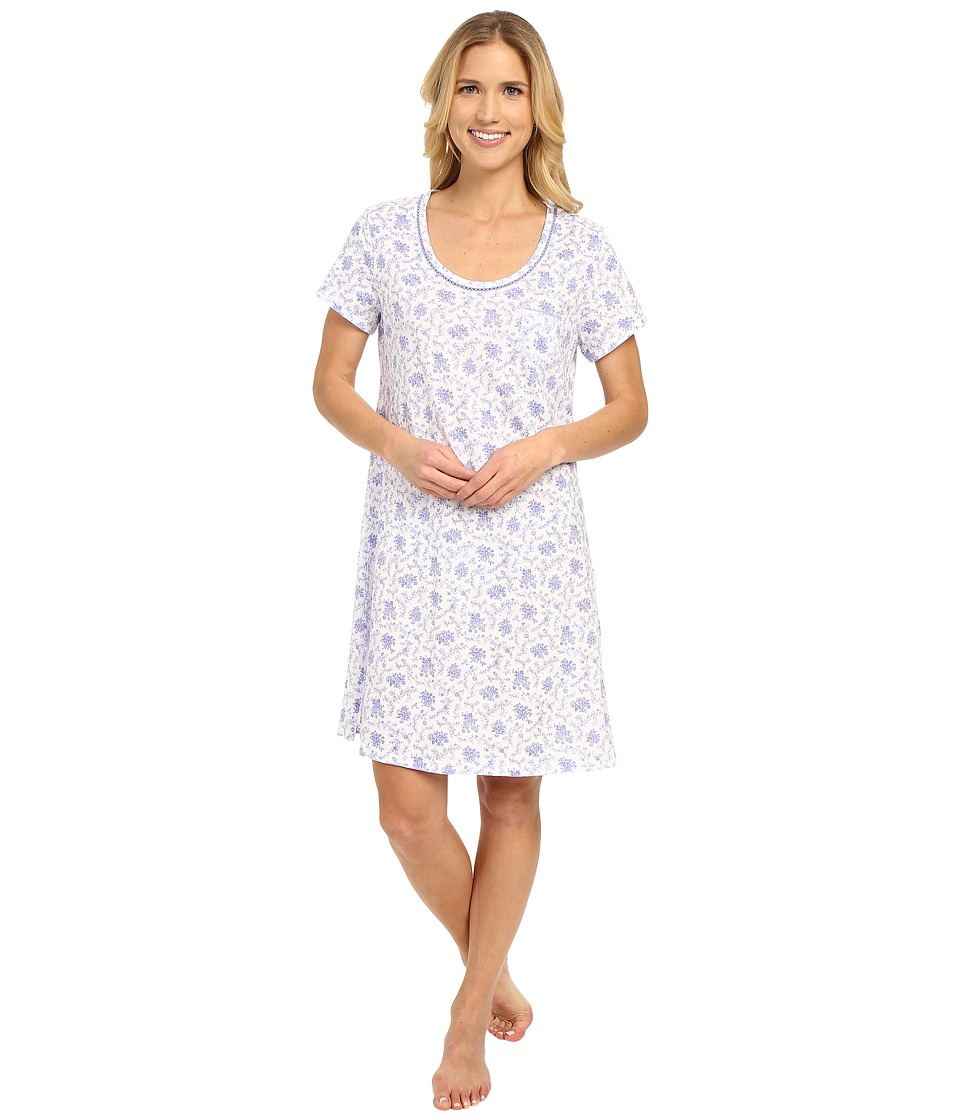 Carole Hochman - Cotton Novelty Printed Sleepshirt (Lattice) Women's Pajama