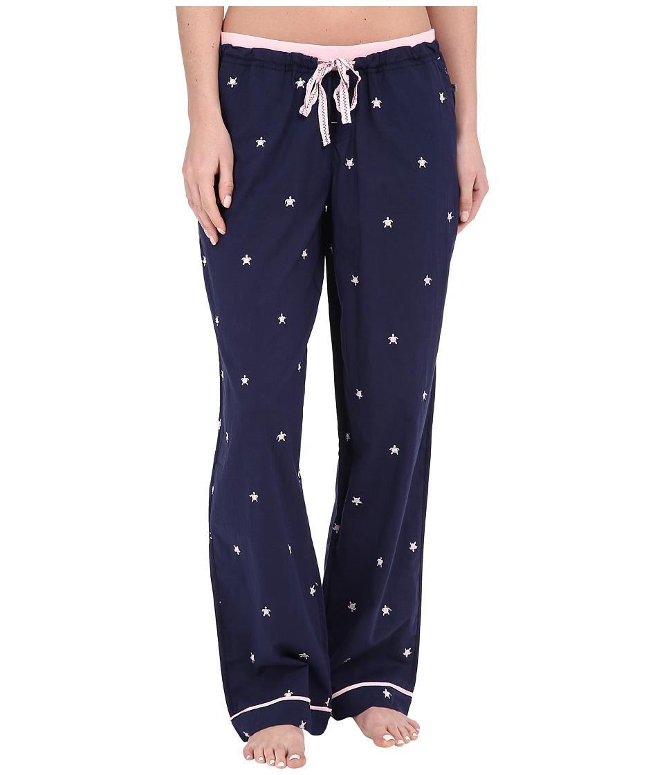 Jane & Bleecker - Knit Trim Woven Pants 3581102 (Turtles) Women's Pajama