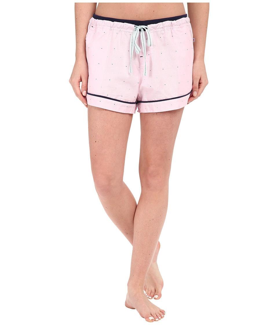 Jane & Bleecker - Knit Trim Woven Shorts 3571102 (Pink Multi Dot) Women's Pajama