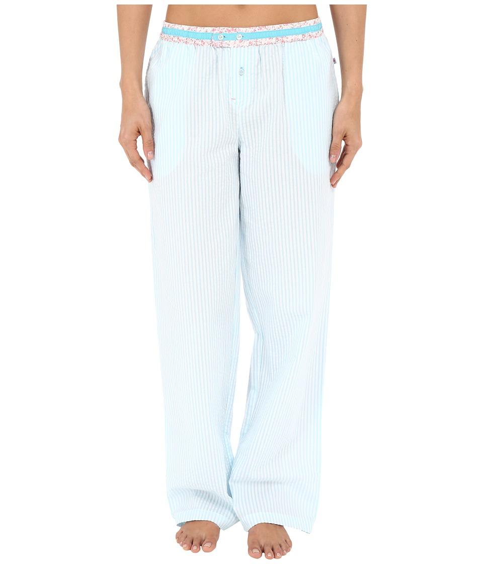 Jane & Bleecker - Mixed Prints Woven Pants 3581107 (Seersucker Stripe) Women's Pajama