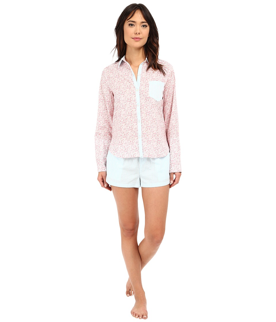 Jane & Bleecker - Mixed Prints Woven PJ Set 3511107 (Ditsy) Women's Pajama Sets