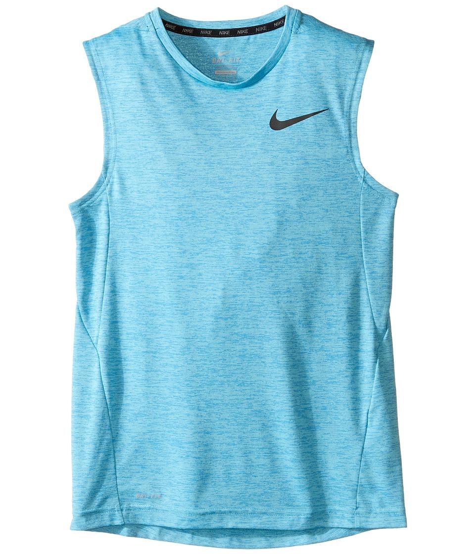 Nike Kids - Dri-FIT Training Muscle Tank Top (Little Kids/Big Kids) (Omega Blue/Heritage Cyan/Black) Boy's Sleeveless